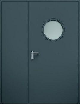 Drzwi ECO dwuskrzydlowe niesymetryczne bulaj
